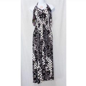 Dresses & Skirts - HAWAII BLACK FLOWER PRINT FULL LENGTH SUNDRESS XL